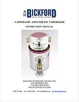 Vapomatic Vaporizer Instruction Manual